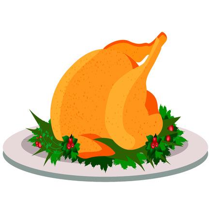Thanksgiving holiday turkey, holidays, food Stock Illustratie