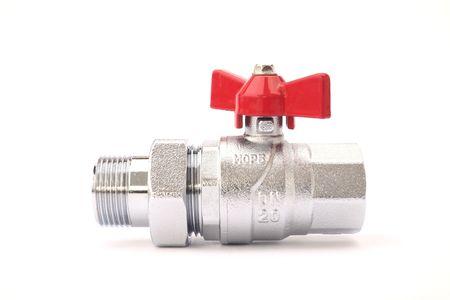 Water valve isolated on white Stock Photo - 6459371
