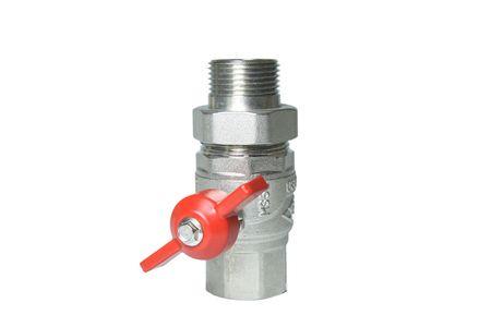Water valve isolated on white Stock Photo - 6596044