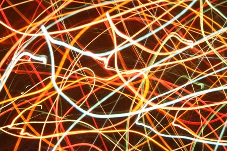 Abstract light image - colored leds in motion photo