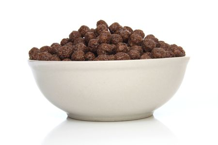 Healthy and tasty breakfast - chocolate cereals Stock Photo - 6596038