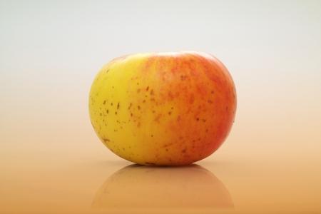 gustatory: Fresh apple isolated on white background