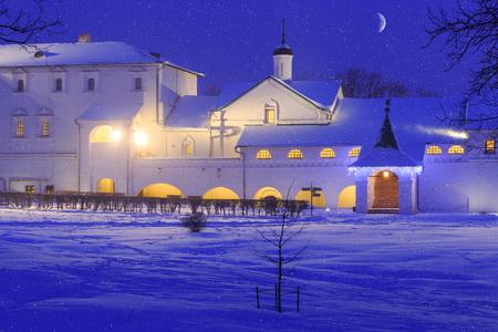 winter evening: Winter evening in Suzdal. The Suzdal Kremlin.