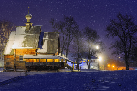 winter evening: Winter evening in Suzdal. View of St. Nicholas Church.