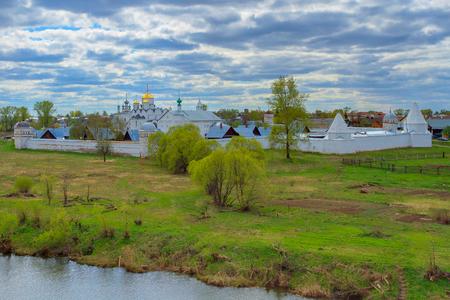 backwoods: Panorama of Pokrovsky monastery in Suzdal.