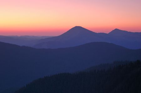 Sunrise in mountains, Carpathians, Ukraine. Stock Photo - 6512041
