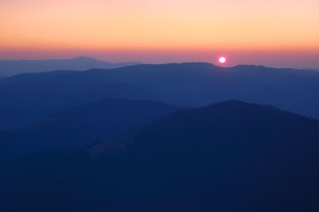 Sunrise in mountains, Carpathians, Ukraine. Stock Photo - 6512038