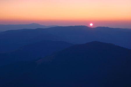 Sunrise in mountains, Carpathians, Ukraine. Stock Photo - 6512038