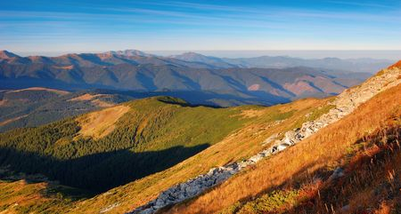 Summer landscape in rocky mountains. A Marmarossky file Stock Photo - 6763234