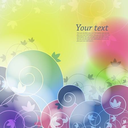 Floral background for design Illusztráció