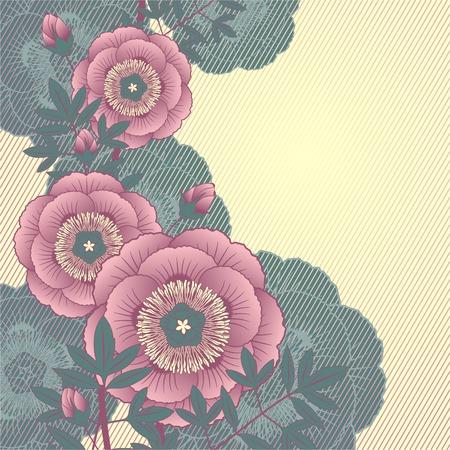 Floral background for design Stock Vector - 8780692