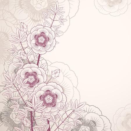 Floral background for design Stock Vector - 8780693