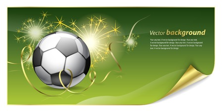 voetbal banner: Abstract background for design on a football theme Stock Illustratie