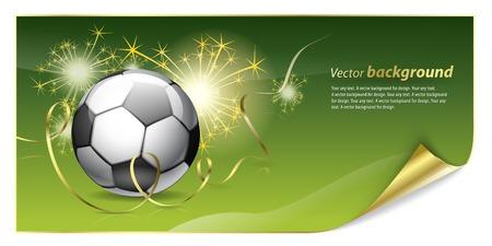 jugando al futbol: Fondo abstracto para el dise�o de un tema de f�tbol