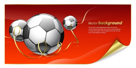 Abstract background for design on a football theme Vector