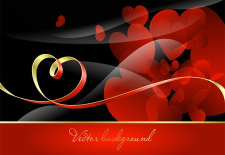 Abstract red background to the Valentine's day Stock Vector - 8780624