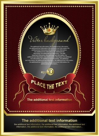 Background for design. Golden royal design element Archivio Fotografico - 8780745