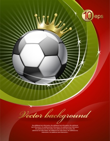 soccer background: Football with a gold crown Illustration