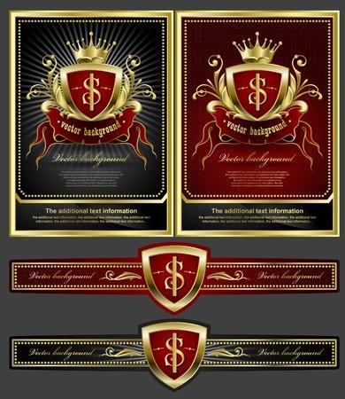 Golden royal design element  Иллюстрация