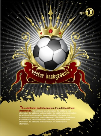 Football with a gold crown Stock Vector - 8780763