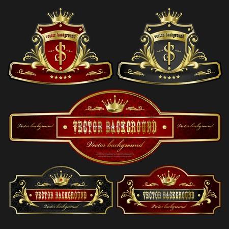 background for design. Golden royal design element Stock Vector - 8780771