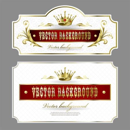 background for design. Golden royal design element