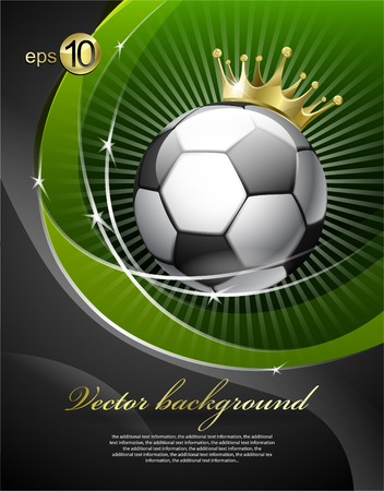 banni�re football: Football with a gold crown Illustration