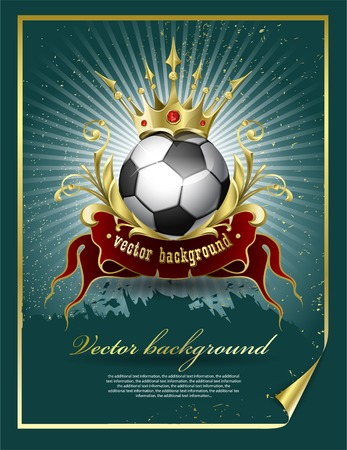Football with a gold crown Illustration