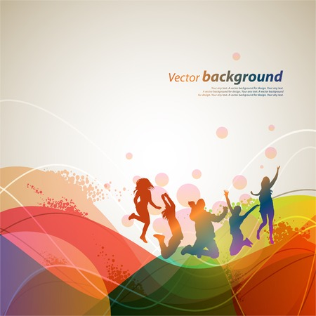 youth: Colour abstract background for design. illustration Illustration