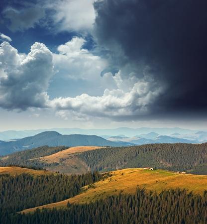 carpathian mountains: Landscape in the mountains. Ukraine, the Carpathian mountains Stock Photo
