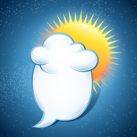 Notes form cloud. Vector illustration on the weather Vector