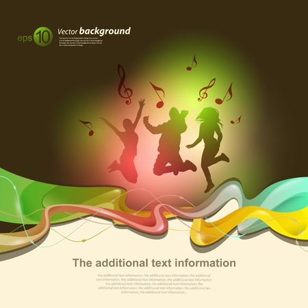 Vector abstract background for design with space for text 일러스트