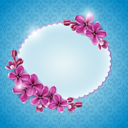 Spring background for the design of flowers. Vector illustration Иллюстрация