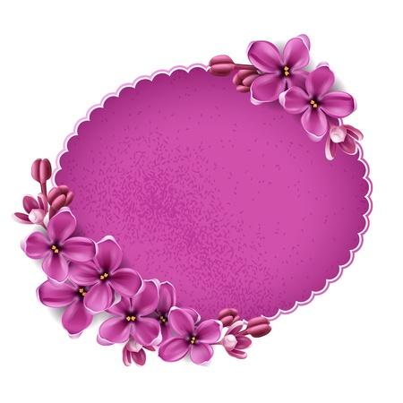 Spring background for the design of flowers. Vector illustration Vettoriali