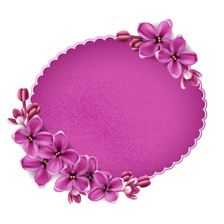 Spring background for the design of flowers. Vector illustration Ilustração