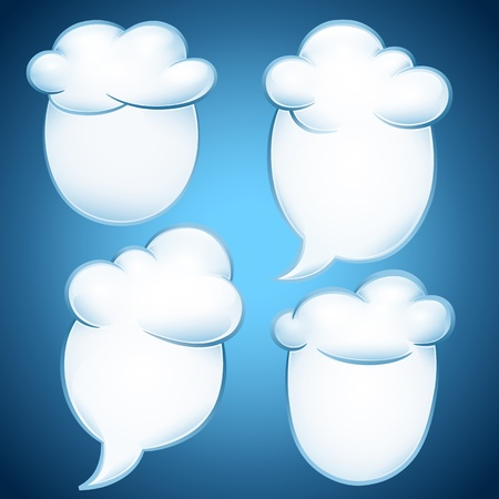 Set of notes form clouds  Vector illustration on the weather Vector