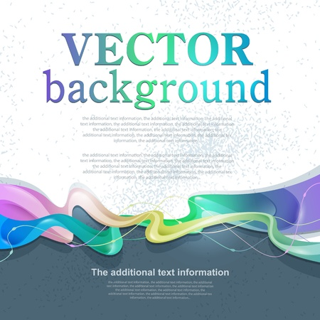 new ideas: Vector abstract background for design with space for text Illustration