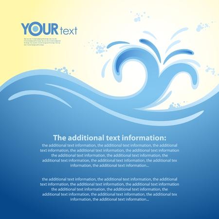 splash color: Vector background per la progettazione di mare onda Vettoriali