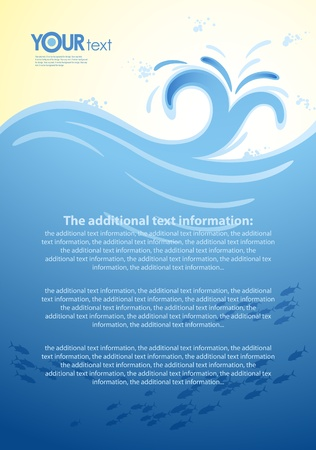 Vector background for the design of sea wave Vector