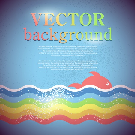 Vector background for the design of the marine theme Vettoriali