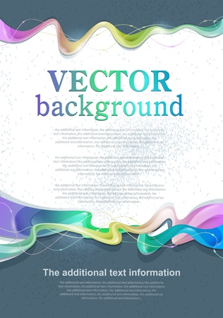 Vector abstract background for design with space for text Çizim