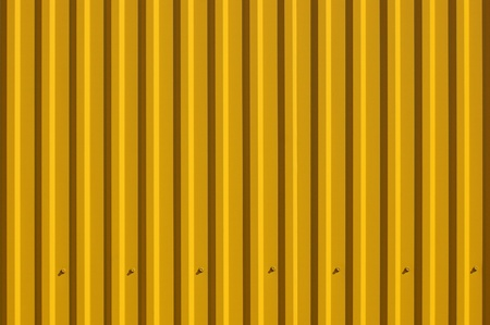 A fragment of a fence with a yellow sheeting  Background for design photo