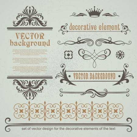 Vecteur définir des éléments de décoration pour la mise en page Illustration