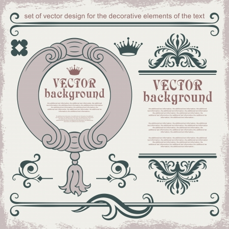 Vector decorative elements for text decoration Stock Vector - 13735179