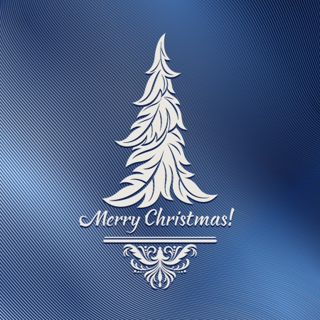 Stylized Christmas tree on a blue background Stock Vector - 16606057