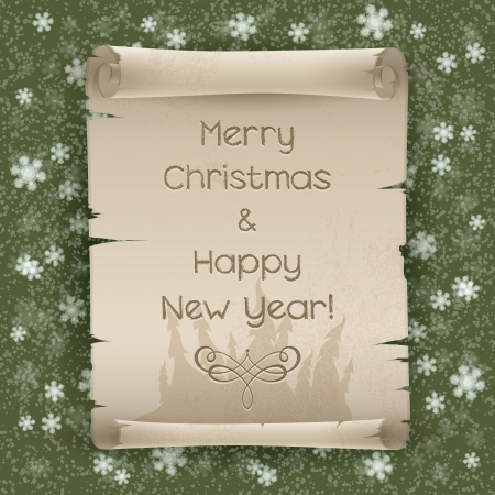Congratulations to Christmas and New Year  Vector illustration Stock Vector - 16606060