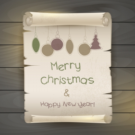 Happy New Year and Christmas, vector illustration Stock Vector - 16606055