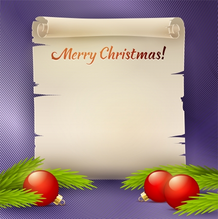 broadsheet: Vector background for the Christmas greetings