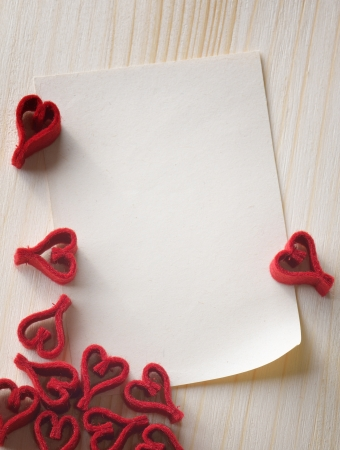 Valentine Day background with a note Stock Photo - 17045999