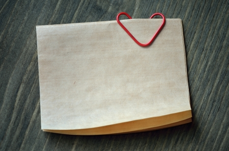 White sheet of paper for your text and red heart  Background Valentine Stock Photo - 17046020